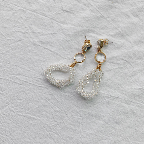 bubble foam drop earring