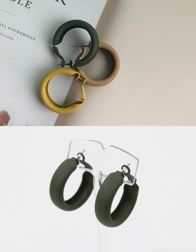matt circle earring