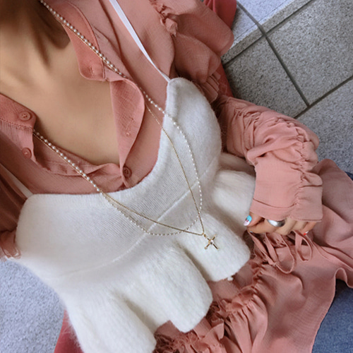 double layering necklace
