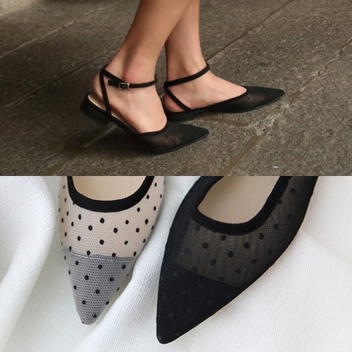 dot see-through shoe