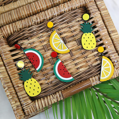 summer fruit earring