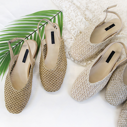 rattan sling back shoes