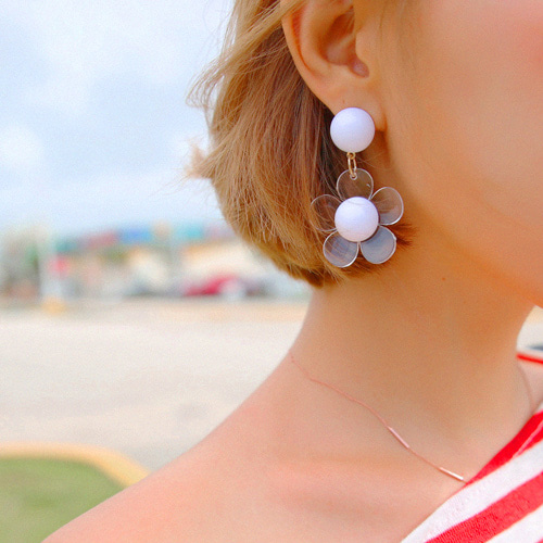purity flower earring