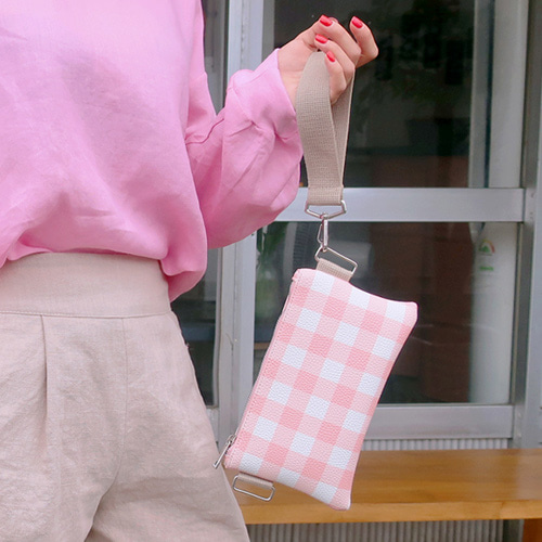 multi check clutch bag