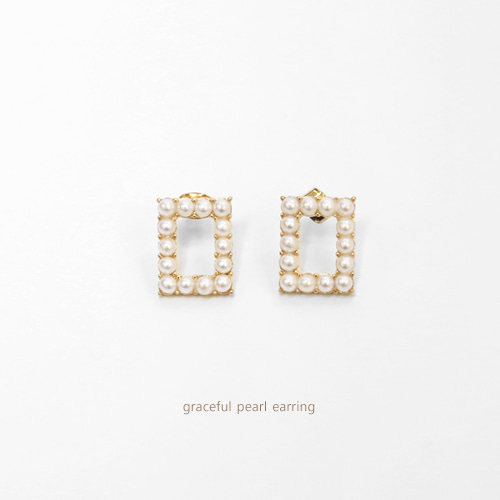 graceful pearl earring
