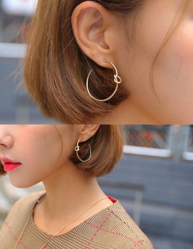 simple twist earring