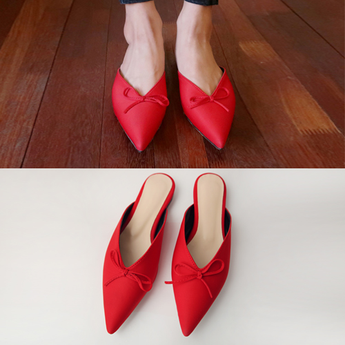 ribbon point shoes